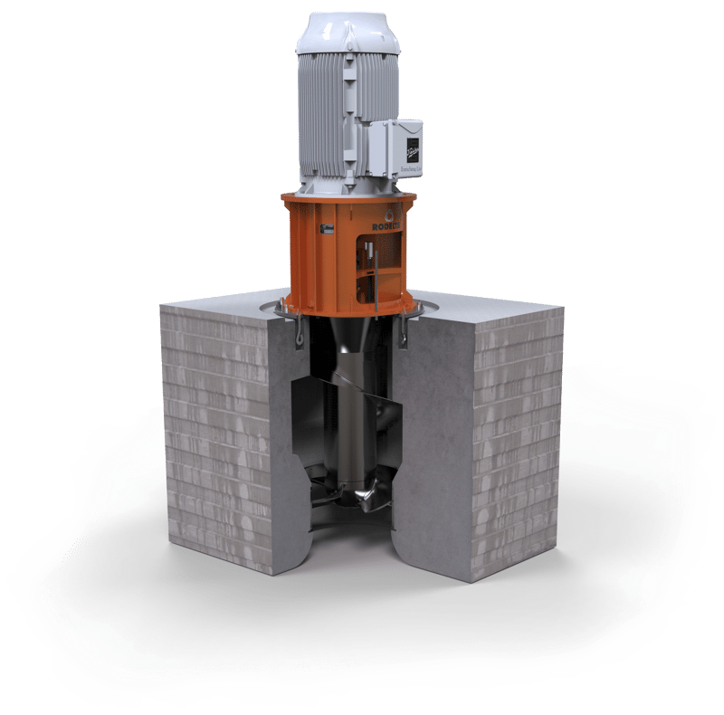 Axial concrete volute pump