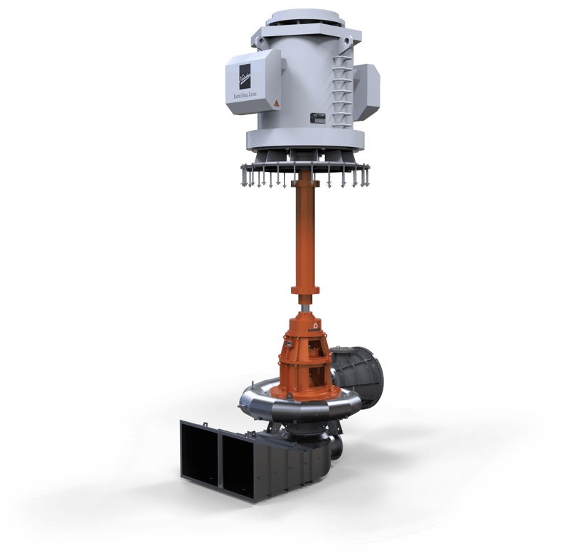 metallic volute pump