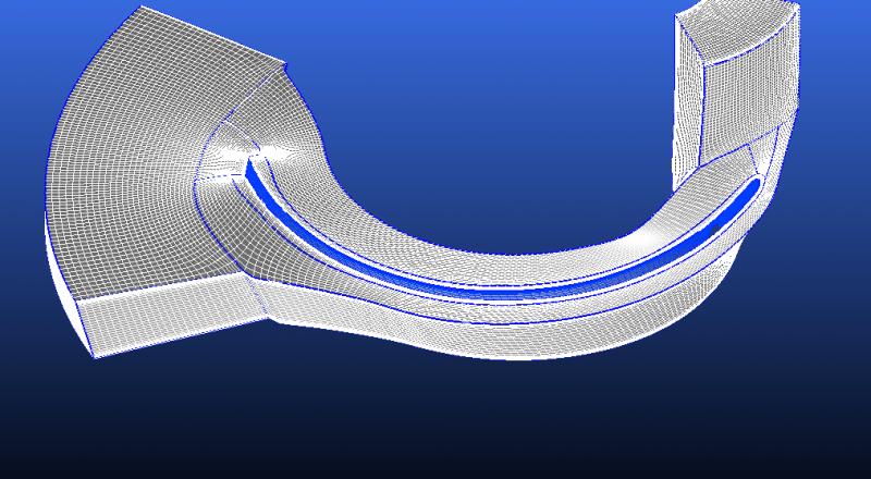 CFD vane raster model