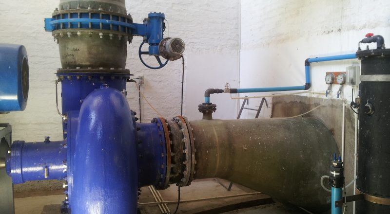 Abagold project SPP pump on site