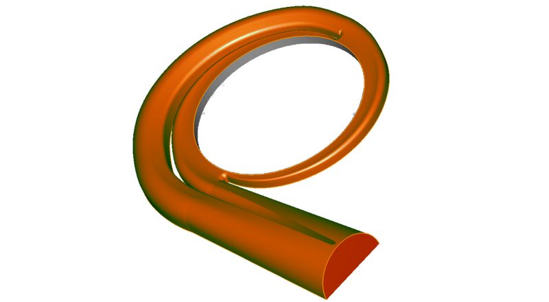 volute is a spiral form